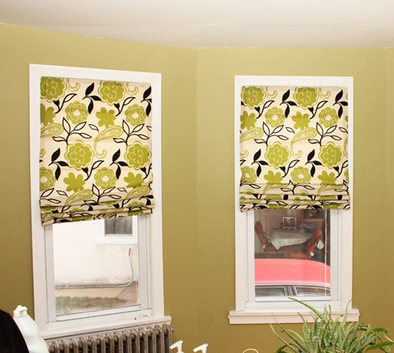 How to turn old window blinds into roman shades