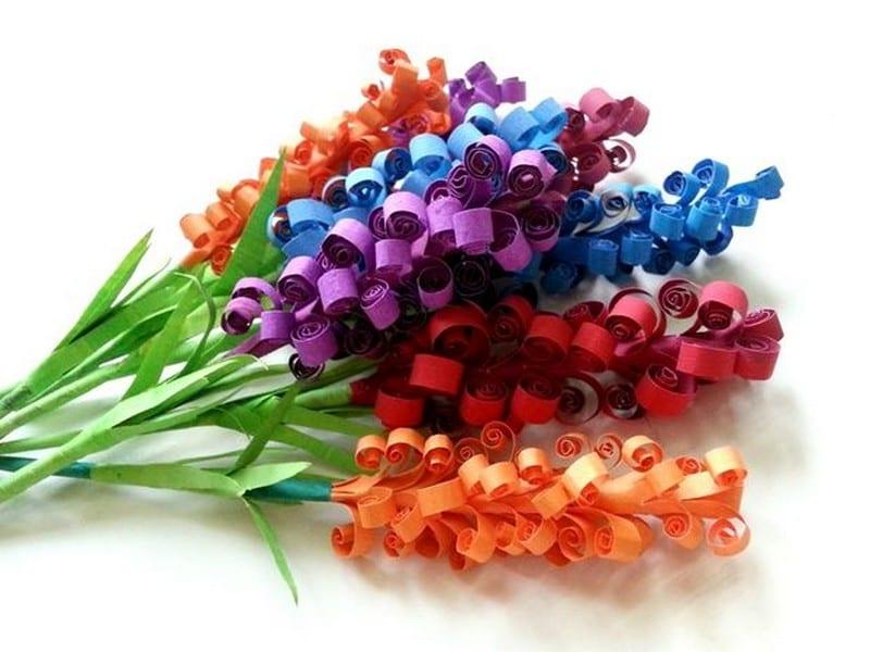 Цветы бумажные поделки 62