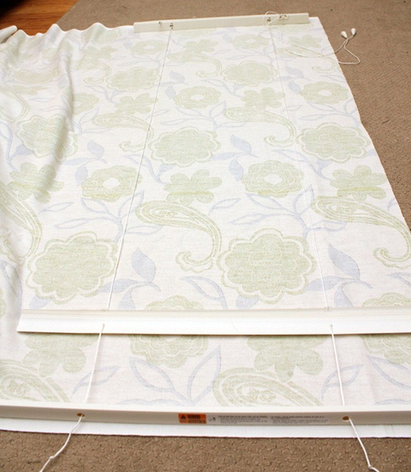 How To Turn Old Window Blinds Into Roman Shades Easy Diy
