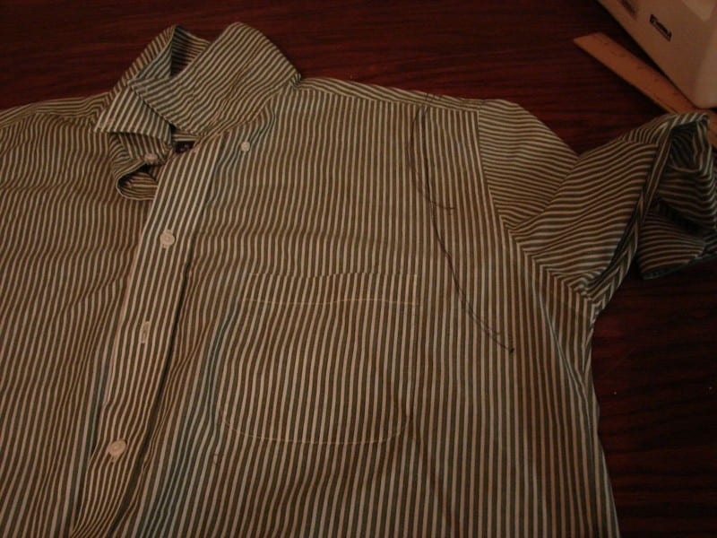 Upcycled Mens Shirt to Dress